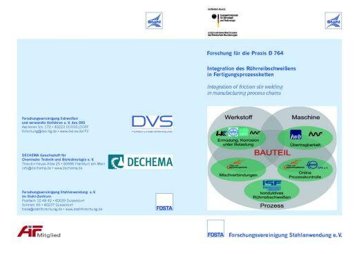 Fosta Dokumentation D 764 - Integration des Rührreibschweißens in Fertigungsprozessketten