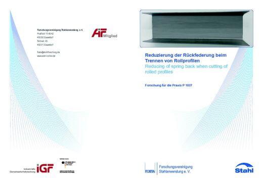 Fostabericht P 1037 - Reduzierung der Rückfederung beim Trennen von Rollprofilen