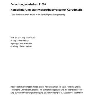 Fostabericht P 589 - Klassifizierung stahlwasserbautypischer Kerbdetails