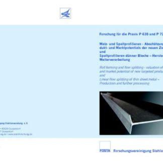 Fostabericht P 721 - Spaltprofilieren dünner Belche - Herstellung und Weiterverarbeitung