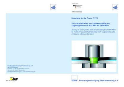 Fostabericht P 773 - Vollstanznietkleben von Stahlwerkstoffen mit Zugfestigkeiten von 800 MPa bis 1600 MPa