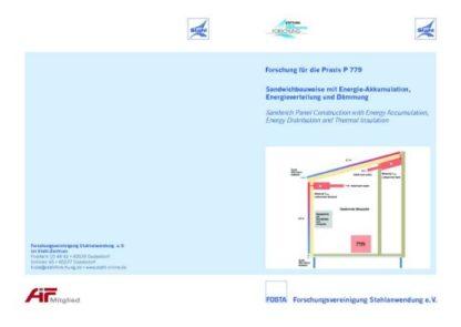 Fostabericht P 779 - Sandwichbauweise mit Energie-Akkumulation - Energieverteilung und Dämmung