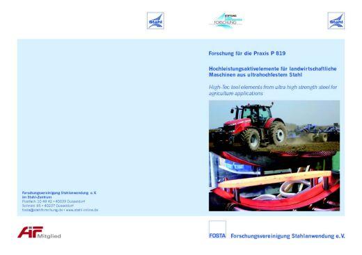 Fostabericht P 819 - Hochleistungsaktivelemente für landwirtschaftliche Maschinen aus ultrahochfestem Stahl
