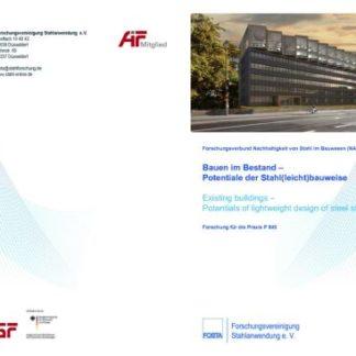 Fostabericht P 845 - Bauen im Bestand - Potentiale der Stahl(leicht)bauweise