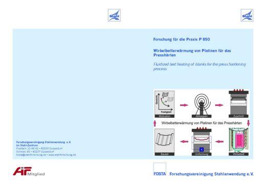 Fostabericht P 850 - Wirbelbettwärmung von Platinen für das Presshärten