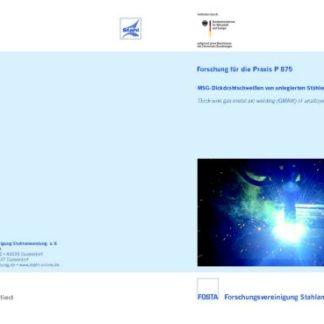 Fostabericht P 875 - MSG-Dickdrahtschweißen von unlegierten Stählen