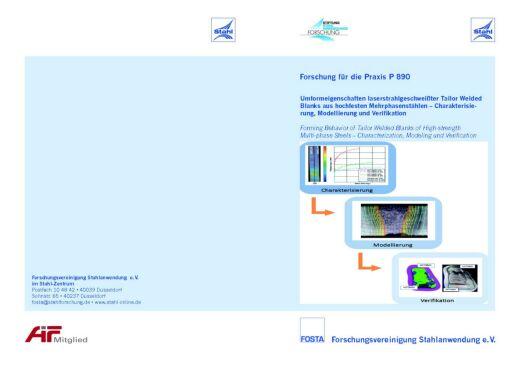 Fostabericht P 890 - Umformeigenschaften laserstrahlgeschweißter Tailor Welded Blanks aus hochfesten Mehrphasenstählen - Charkaterisierung, Modellierung und Verifikation