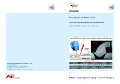 Fostabericht P 919 - Laser-MSG-Hybridschweißen von Stahlfeinblechen