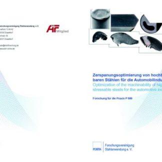 Fostabericht P 989 - Zerspanungsoptimierung von hochbelastbaren Stählen für die Automobilindustrie