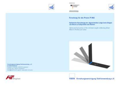 Fostabericht P 992 - Optimierte Berechnung der abgewickelten Länge beim Biegen von Blech zu Kaltprofilen und Rohren