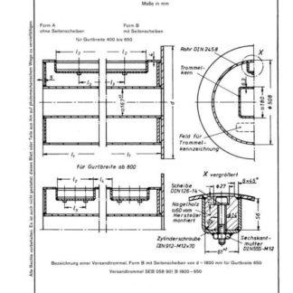 Stahl-Eisen-Betriebsblatt (SEB) 058 901 - Versandtrommeln für Fördergurte