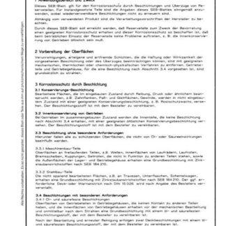 Stahl-Eisen-Betriebsblatt (SEB) 104 140 - Beschichtungen und Überzüge für Reserveteile