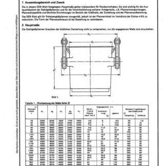Stahl-Eisen-Betriebslatt (SEB) 330 010 - Stahlgießpfannen - Hauptmaße, Gewichte, Tragfähigkeit (Teil 1)