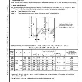 Stahl-Eisen-Betriebsblatt (SEB) 526 110 - Heiwindschiebergehäuse ohne feuerfeste Auskleidung