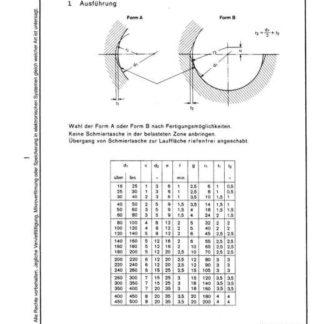 Stahl-Eisen-Betriebsblatt (SEB) 601 221 - Schmiertaschen für geteilte Lager bei Fett- und Ölschmierung (Teil 2)