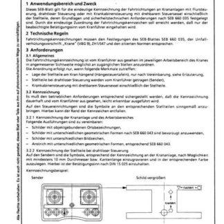 Stahl-Eisen-Betriebsblatt (SEB) 660 040 - Fahrtrichtungskennzeichnung an Krananlagen - Amforderungen