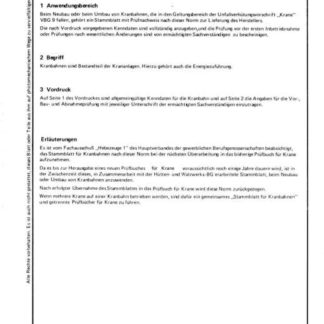 Stahl-Eisen-Betriebsblatt (SEB) 664 025 - Stammblatt für Kranbahnen