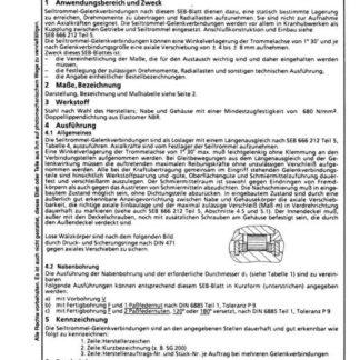 Stahl-Eisen-Betriebsblatt (SEB) 666 212 - Seiltrommel-Geöenkverbindungen - Anschlussmaße und technische Anforderungen (Teil 1)