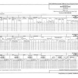 Stahl-Eisen-Betriebsblatt (SEB) 668 030 - Gurtfördererliste - Vordruck