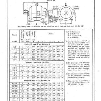 Stahl-Eisen-Betriebsblatt (SEB) 841 10 - Elektrische Maschinen für Hüttenwerke - Auswahlreihe geschlossener asynchroner Drehstrommotoren mit Schleifringläufer für Aussetzbetrieb Bauart HDAS (nicht für Neuanlagen)