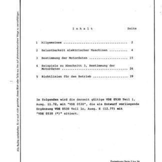Stahl-Eisen-Betriebsblatt (SEB) 841 210 - Richtlinien für Walzwerksmotoren - Erläuterungen (Beiblatt 1)