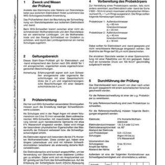 Stahl-Eisen-Prüfblatt (SEP) 1210 - Beurteilung der Schweißeignung von Elektroblechbeschichtungen auf kaltgewalztem, nicht kornorientiertem, schlußgeglühtem Elektroblech und -band nach dem Wolfram-Inert-Gas (WIG) Schweißverfahren