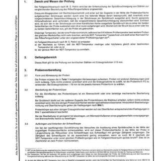 Stahl-Eisen-Prüfblatt (SEP) 1325 - Fallgewichtsversuch nach W.S. Pellini