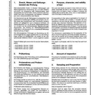 Stahl-Eisen-Prüfblatt (SEP) 1614 - Mikroskopische Pürfung von Warmarbeitsstählen