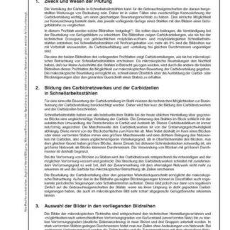 Stahl-Eisen-Prüfblatt (SEP) 1615 - Mikroskopische und makroskopische Prüfung von Schnellarbeitsstählen auf ihre Carbidverteilung mit Bildreihen