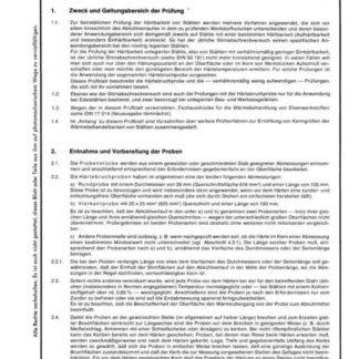 Stahl-Eisen-Prüfblatt (SEP) 1655 - Prüfung der Härtbarkeit von Edelstähle mit Härtebruchproben