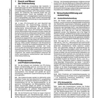 Stahl-Eisen-Prüfblatt (SEP) 1680 - Aufstellung von Zeit-Temperatur-Umwandlungsschaubildern für Eisenlegierungen