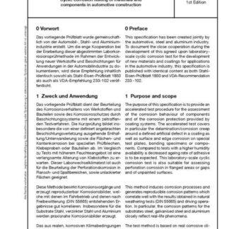 Stahl-Eisen-Prüfblatt (SEP) 1850 - Zyklische Korrosionsprüfung von Werkstoffen und Bauteilen im Automobilbau