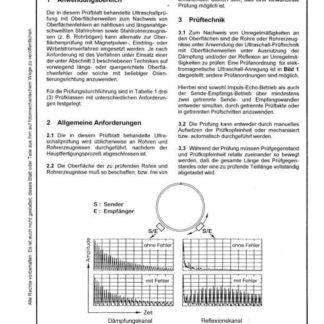 Stahl-Eisen-Prüfblatt (SEP) 1913 - Ultraschall-Oberflächenprüfung von nahtlosen und längsnahtgeschweißten Stahlrohren mit Oberflächenwellen