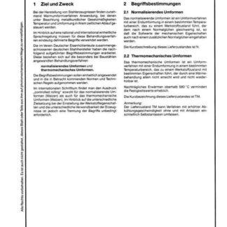 Stahl-Eisen-Werkstoffblatt (SEW) 082 - Begriffsbestimmungen Normalisierendes Umformen und Thermomechanisches Umformen