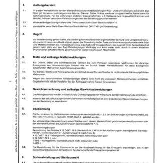 Stahl-Eisen-Werkstoffblatt (SEW) 470 - Hitzebeständige Walz- und Schmiedestähle