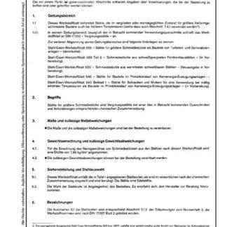 Stahl-Eisen-Werkstoffblatt (SEW) 550 - Stähle für größere Schmiedestücke - Gütevorschriften