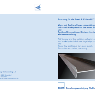 Fostabericht P 638/P 721 - Walz- und Spaltprofilieren - Abschätzung des Produkt- und Marktpotentials der neuen Zielprodukte und Spaltprofilieren dünner Bleche - Herstellung und Weiterverarbeitung
