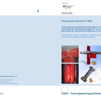 Fostabericht P 834 - Untersuchung von Schraubenverbindung im Stahl- und Verbundbau zur Schaffung von Regeln für die numerische Bemessung des baulichen Brandschutzes im Hochbau