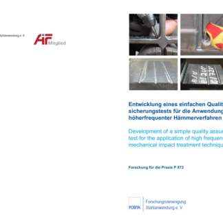 Fostabericht P 872 - Entwicklung eines einfachen Qualitätssicherungstests für die Anwendung höherfrequenter Hämmerverfahren
