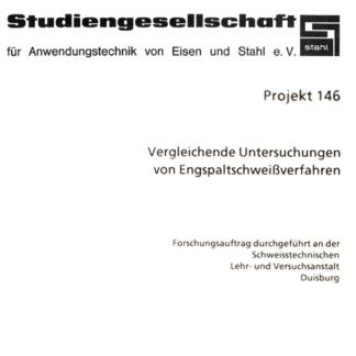 Fostabericht P 146 - Vergleichende Untersuchungen von Engspaltschweißverfahren