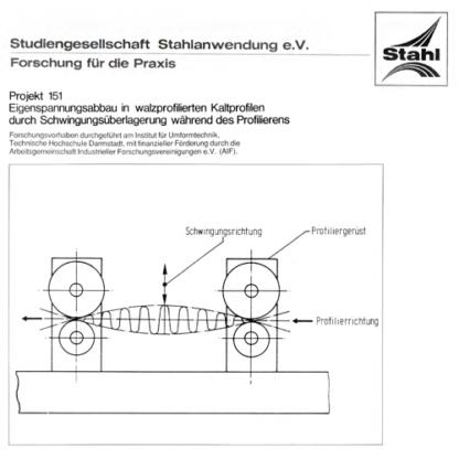 Fostabericht P 151 - Eigenspannungsabbau in walzprofilierten Kaltprofilen durch Schwingungsüberlagerung während des Profilierens