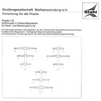 Fostabericht P 152 - Stahlmaste in Vollbauweise für Hoch- und Niederspannung