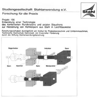 Fostabericht P 156 - Entwicklung einer Technologie des kombinierten Rundknetens und axialen Stauchens zur Hestellung von Hohlkörpern aus Stahl in Leichtbauweise