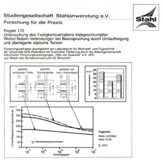 Fostabericht P 170 - Untersuchung des Festigkeitsverhaltens klebgeschrumpfter Wellen-Naben-Verindungen bei Beanspruchung durch Umlaufbiegung und überlagerte statische Torsion