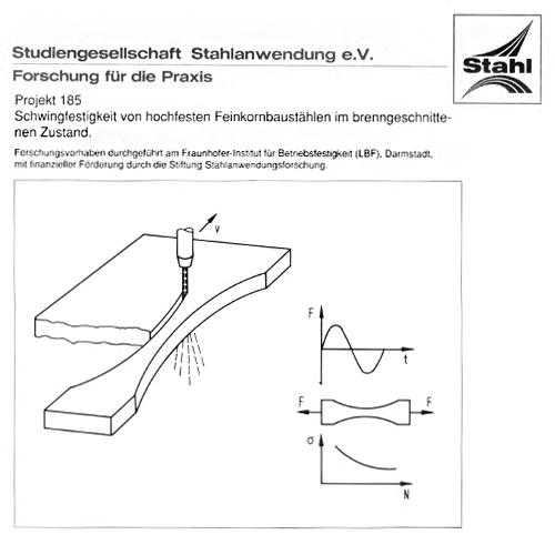 Fostabericht P 185 - Schwingfestigkeit von hochfesten Feinkornbaustählen im brenngeschnittenen Zustand