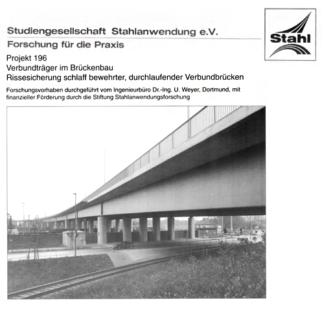 Fostabericht P 196 - Verbundträger im Brückenbau Rissesicherung schlaff bewehrter, durchlaufender Verbundbrücken