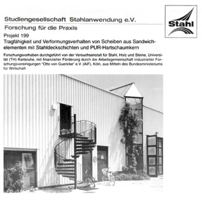Fostabericht P 199 - Tragfähigkeit und Verformungsverhalten von Scheiben aus Sandwichelementen mit Stahldeckschichten und PUR-Hartschaumkern