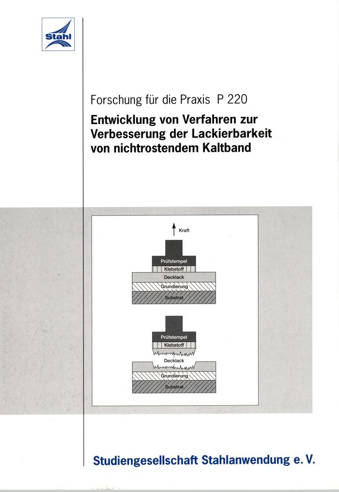 Fostabericht P 220 - Entwicklung von Verfahren zur Verbesserung der lackierbarkeit von nichtrostendem kaltband