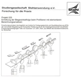 Fostabericht P 225 - Ermittlung der Biegewinkelfolge beim Profilieren mit elementaren Berechnungsansätzen