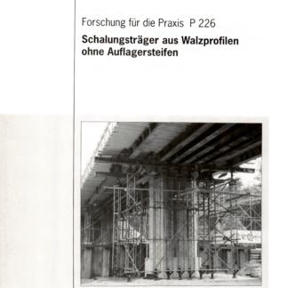 Fostabericht P 226 - Schalungsträger aus Walzprofilen ohne Auflagerdteifen